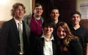 """With students at the """"Moving Up"""" ceremony for freshman at Shattuck-St Mary's, Faribault, MN"""