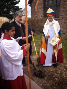 Groundbreaking at St. James, Marshall