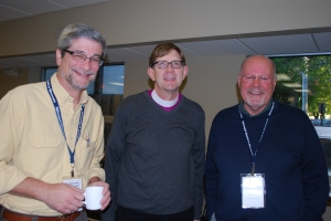 Bishop Prior with deacons Jim Shoulak and Chip Whitacre at last weekend's Deacon conference.