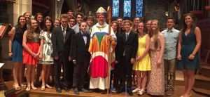 A photo from June's Confirmation service at St. Stephen's, Edina.